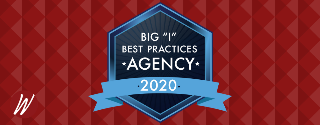 "Big ""I"" Best Practices Agency 2020 award badge"