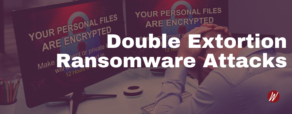 Ransomware Attack Businessman holding head after ransomware